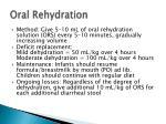oral rehydration