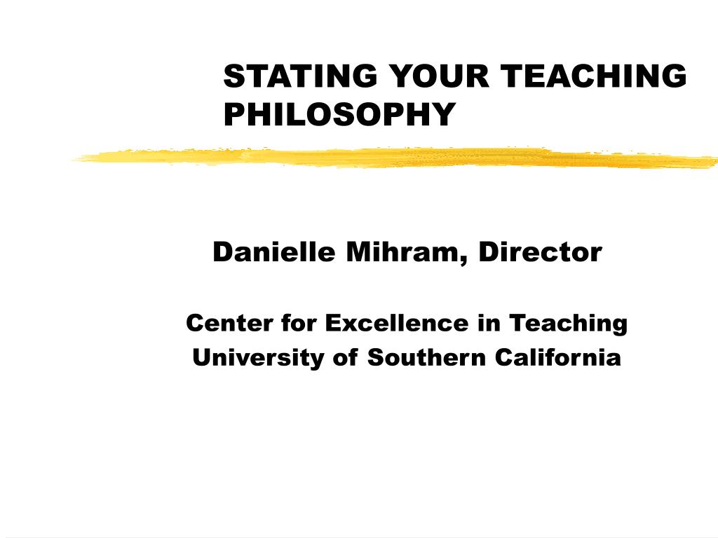 stating your teaching philosophy