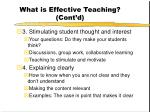 what is effective teaching cont d