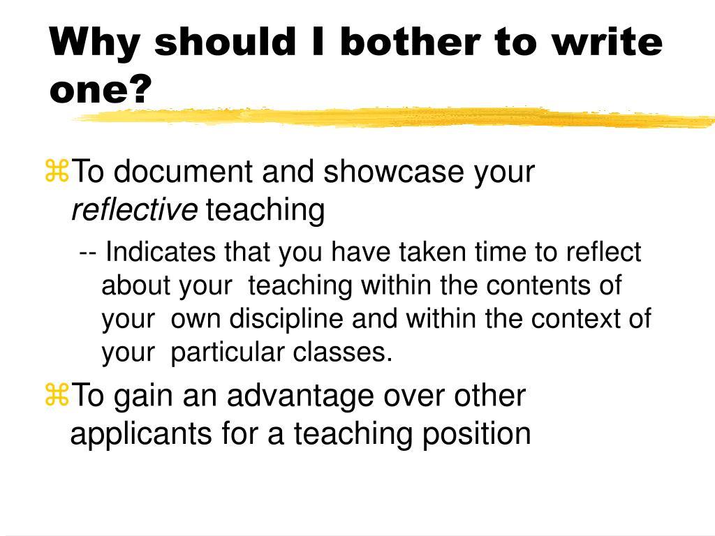 why should i write - photo #4