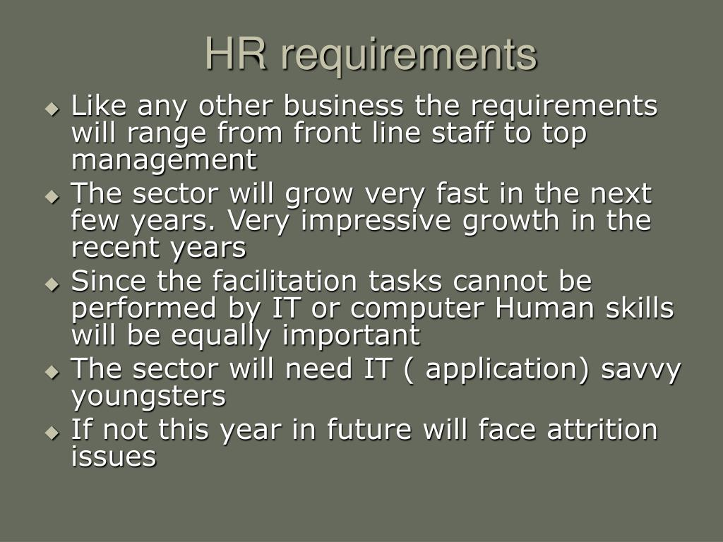 HR requirements