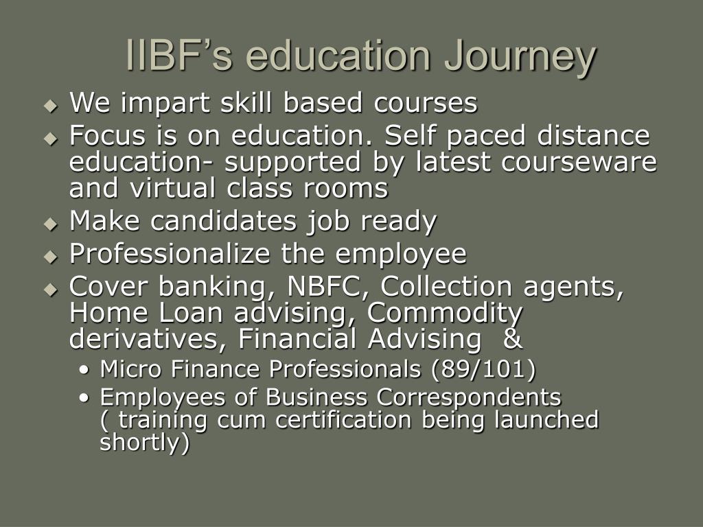 IIBF's education Journey