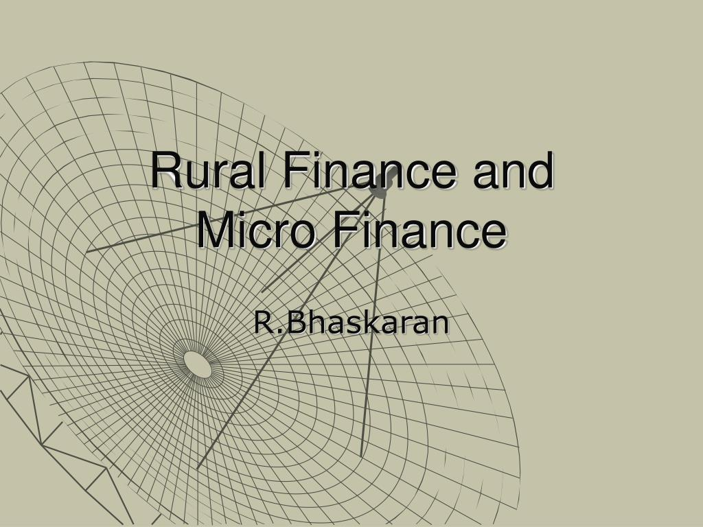 Rural Finance and