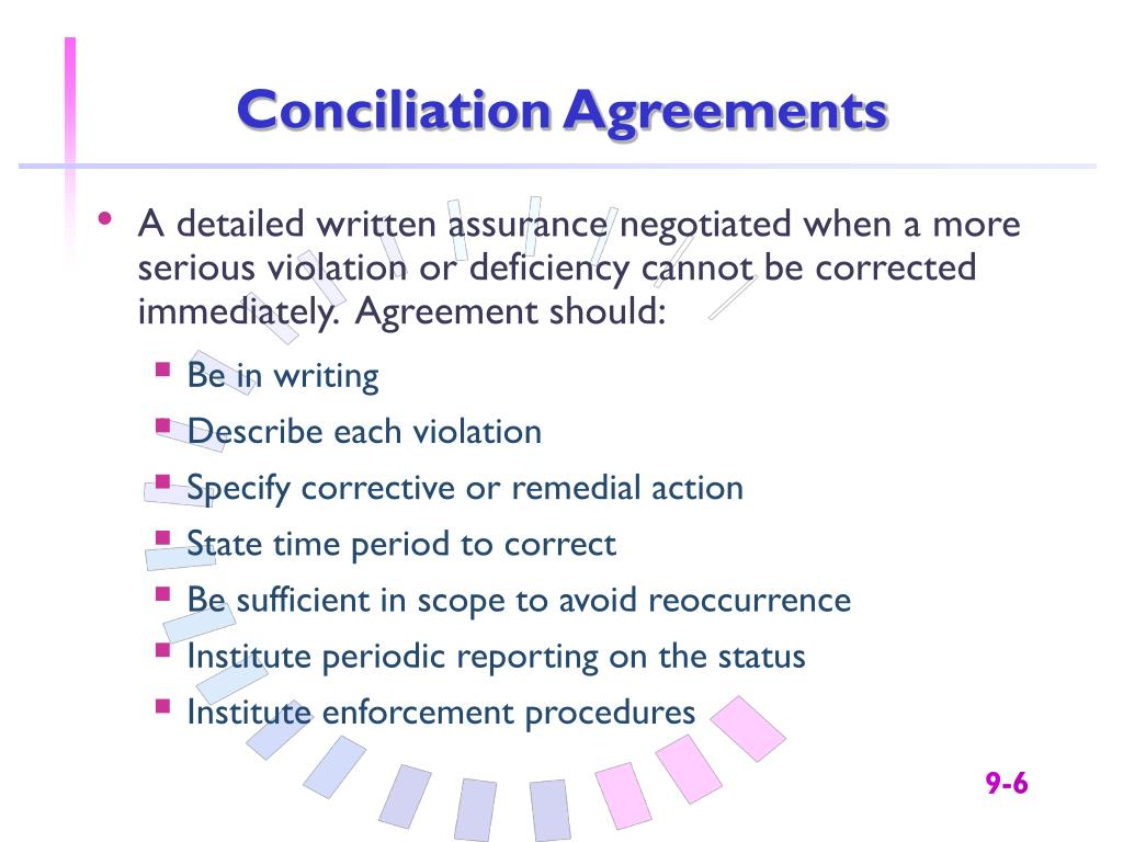 Conciliation Agreements