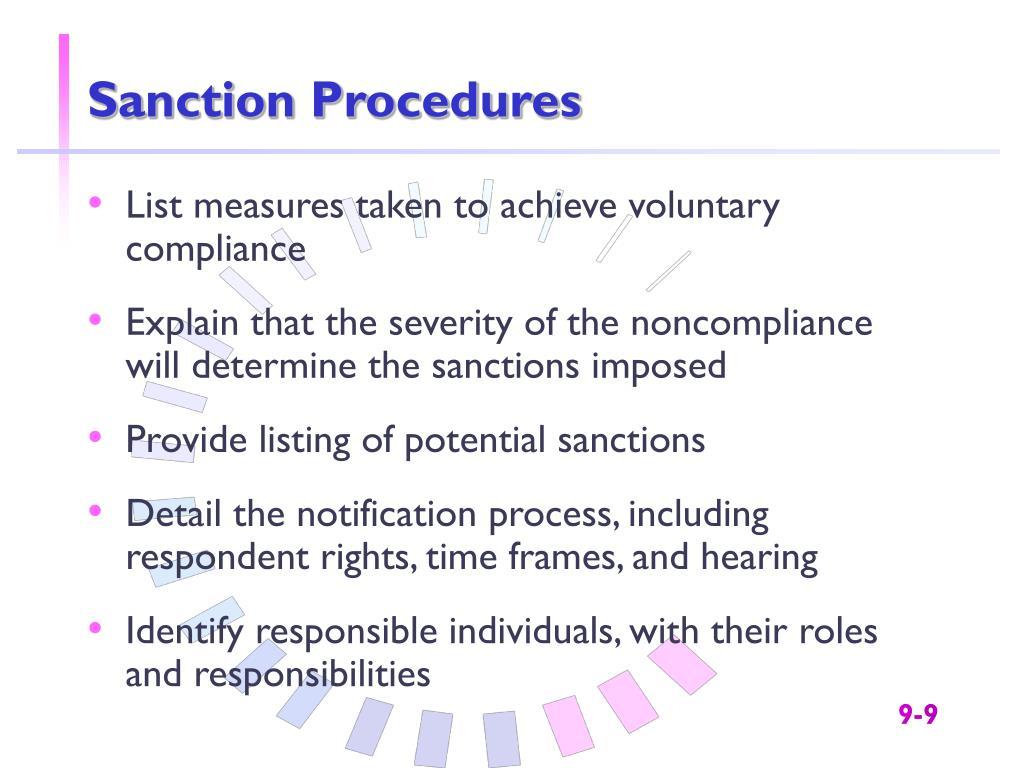 Sanction Procedures