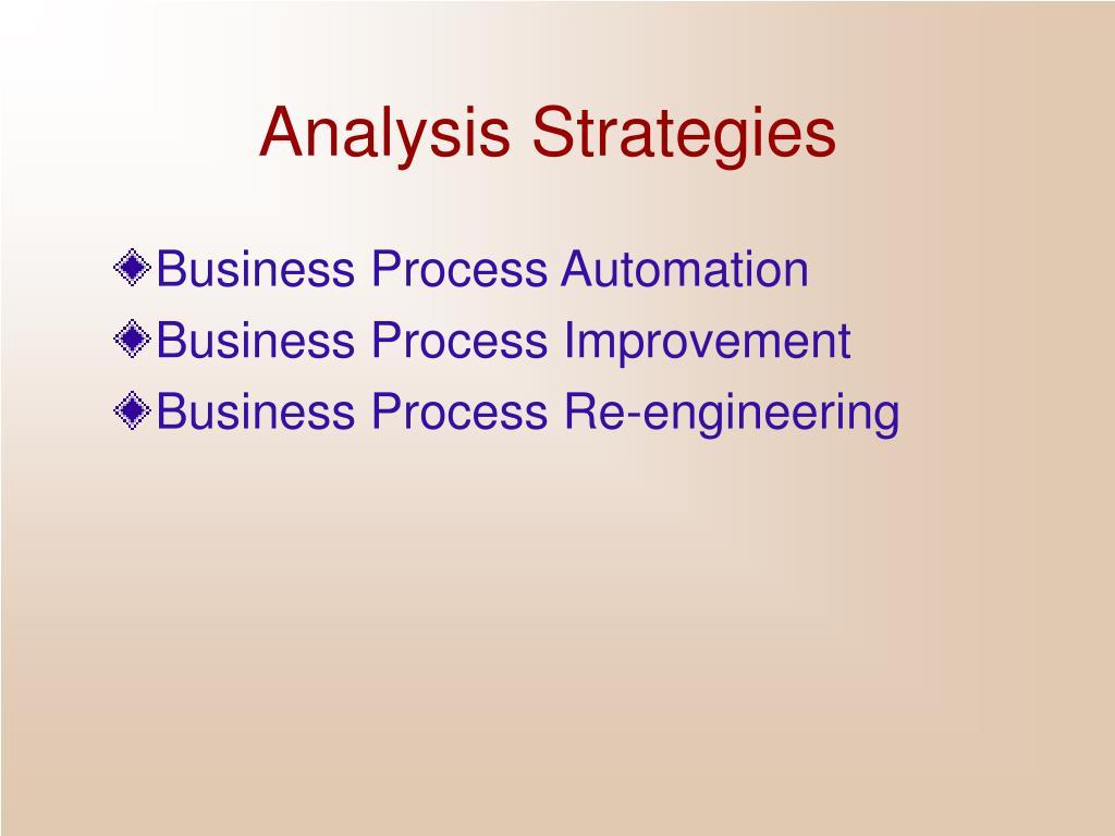Analysis Strategies