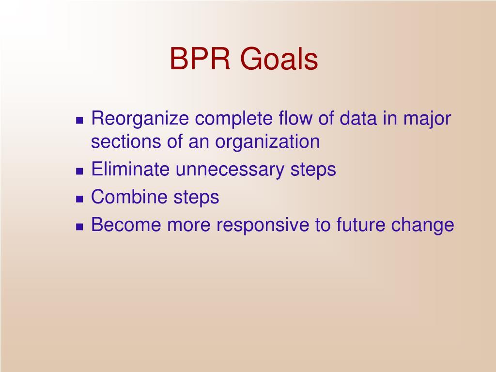 BPR Goals