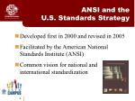 ansi and the u s standards strategy