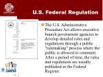 u s federal regulation