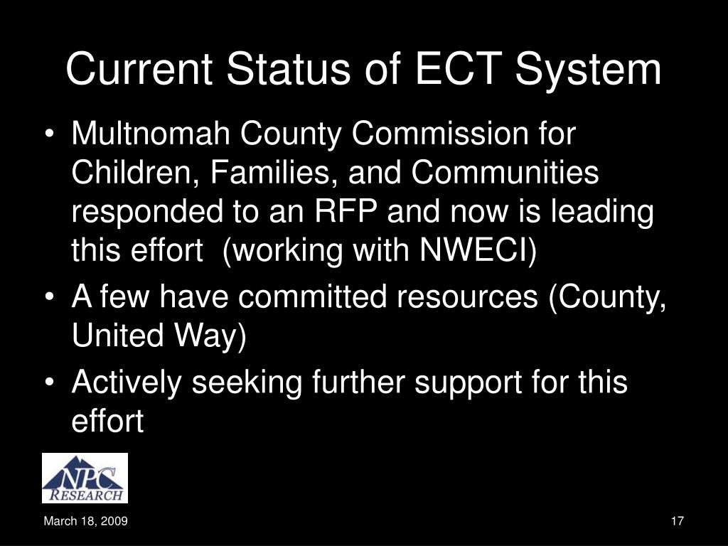 Current Status of ECT System