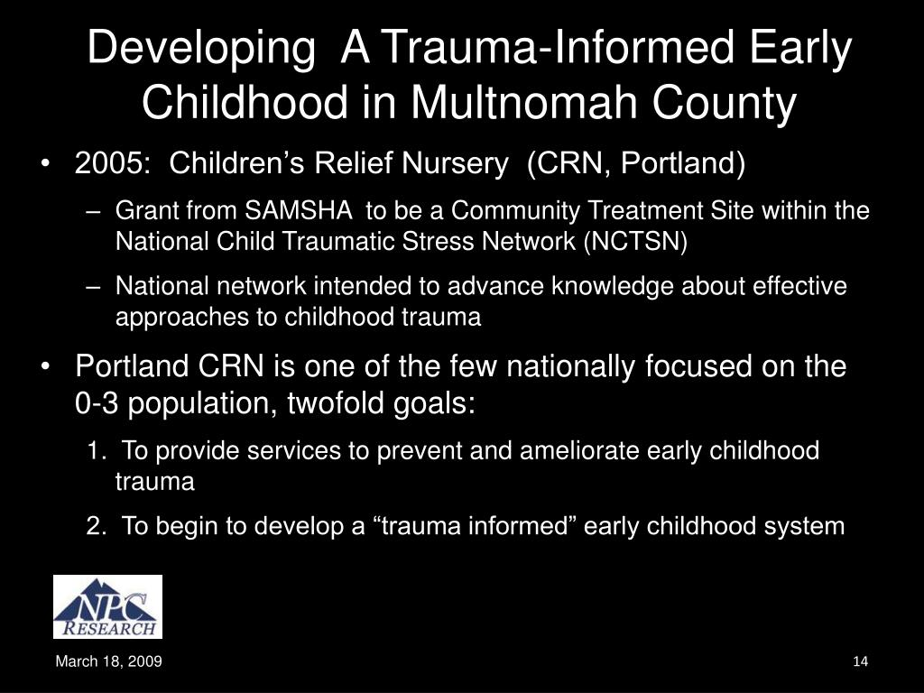 Developing  A Trauma-Informed Early Childhood in Multnomah County