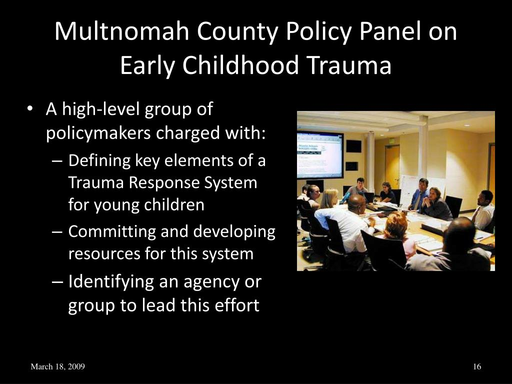 Multnomah County Policy Panel on Early Childhood Trauma