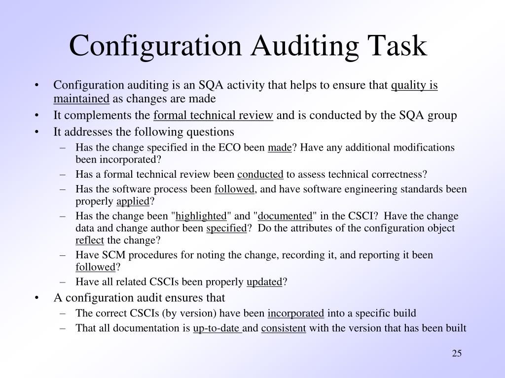 Configuration Auditing Task
