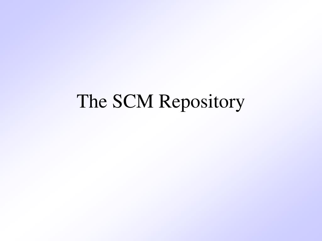 The SCM Repository