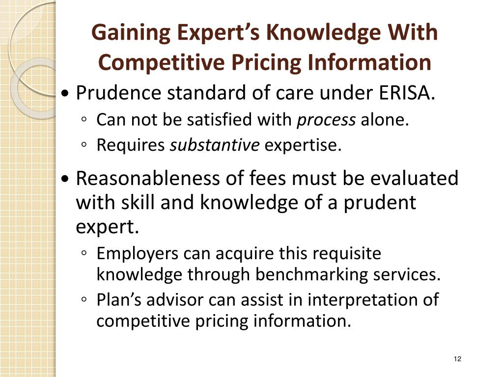 Gaining Expert's Knowledge With Competitive Pricing Information