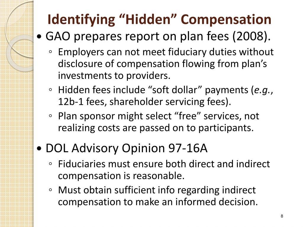 "Identifying ""Hidden"" Compensation"