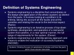 definition of systems engineering