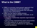 what is the cmmi