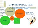 unintended action