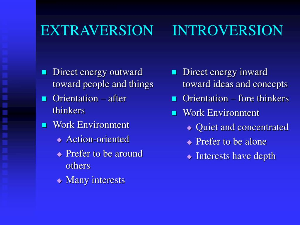 Direct energy outward toward people and things