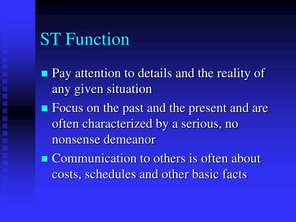ST Function