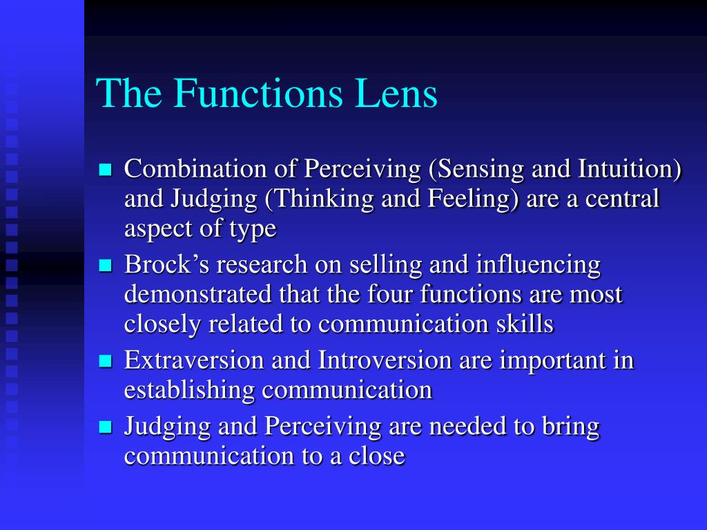 The Functions Lens
