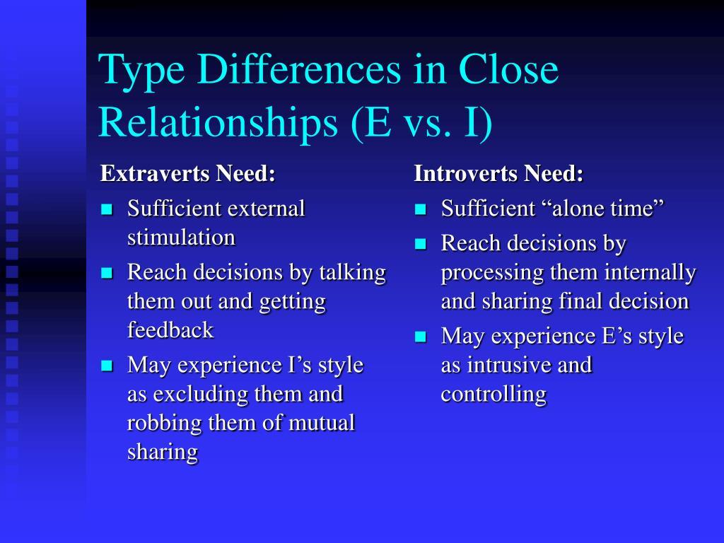 Extraverts Need: