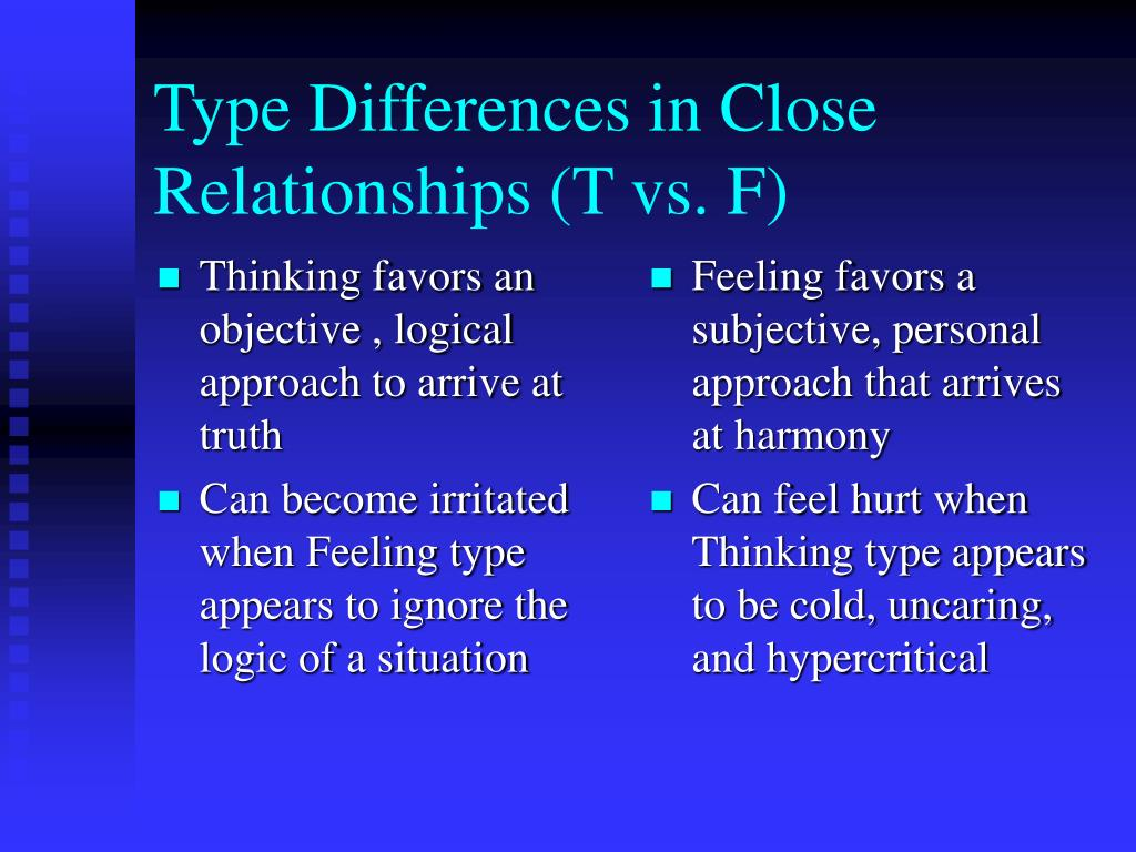 Thinking favors an objective , logical approach to arrive at truth