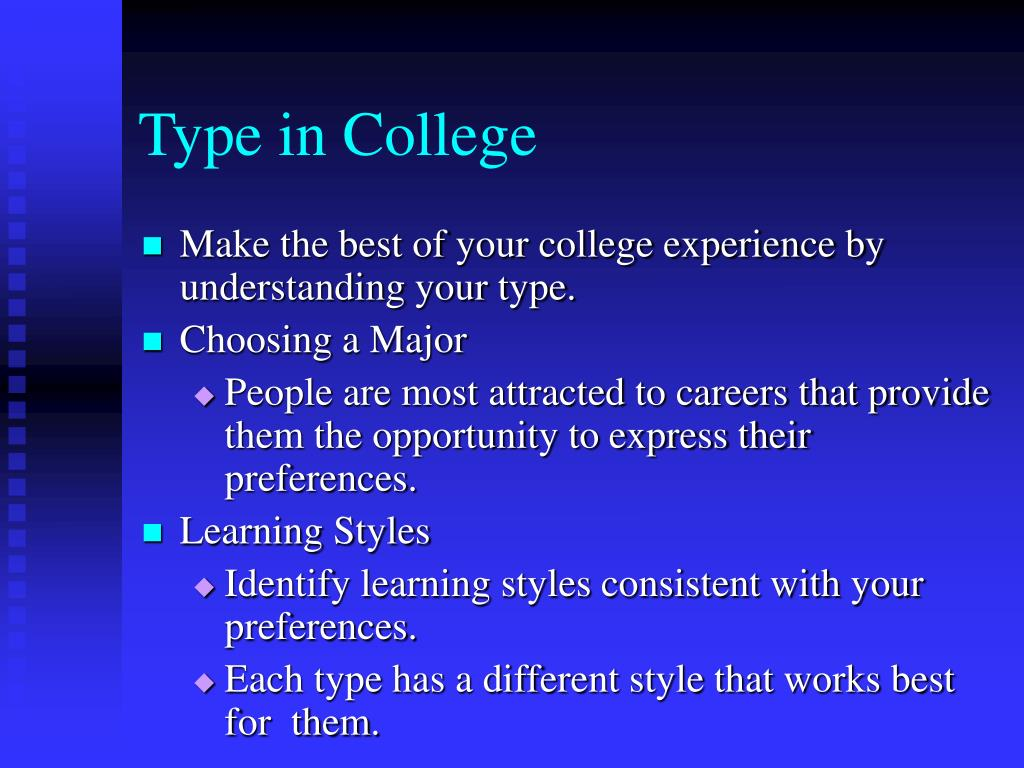 Type in College