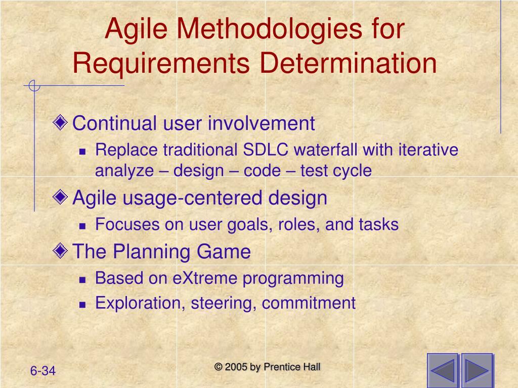 Agile Methodologies for Requirements Determination
