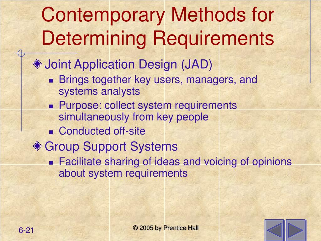 Contemporary Methods for Determining Requirements