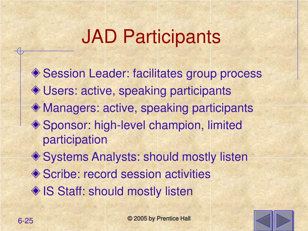 JAD Participants