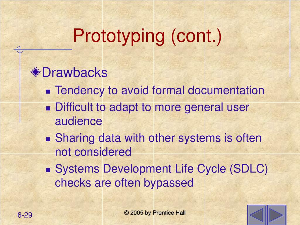 Prototyping (cont.)