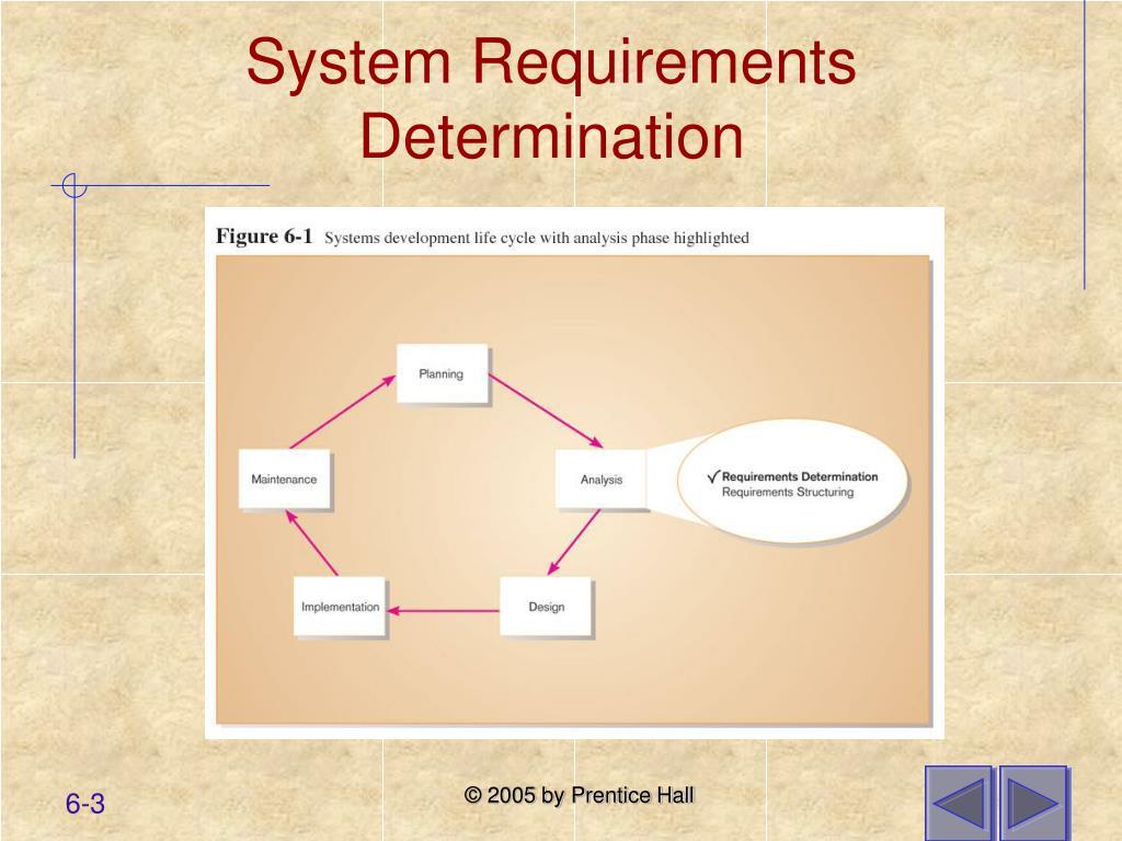 System Requirements Determination