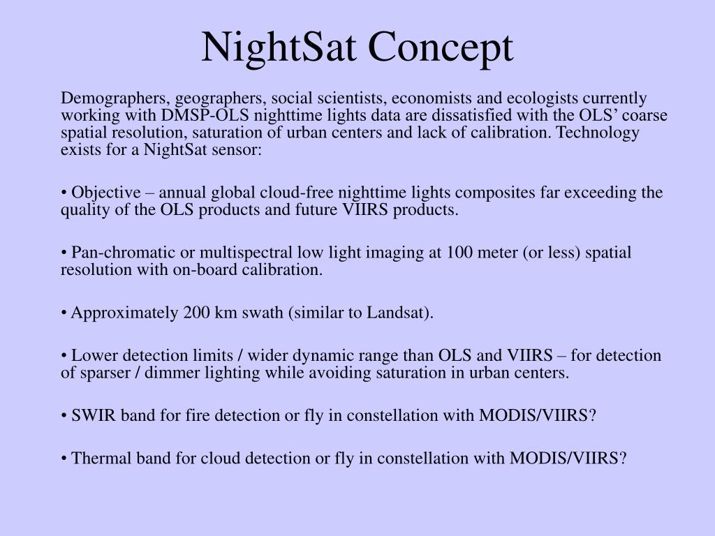 NightSat Concept