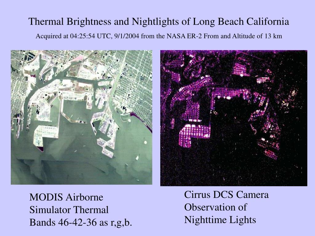 Thermal Brightness and Nightlights of Long Beach California