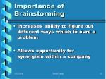 importance of brainstorming