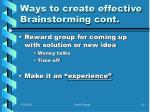 ways to create effective brainstorming cont10