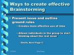 ways to create effective brainstorming