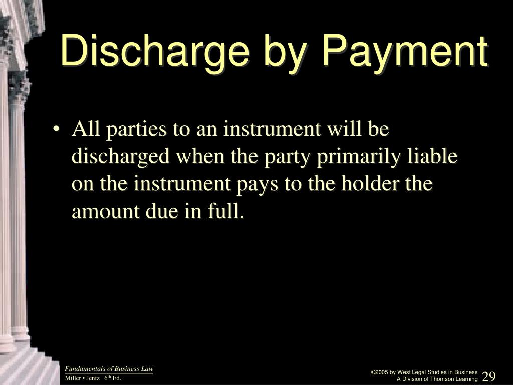 Discharge by Payment