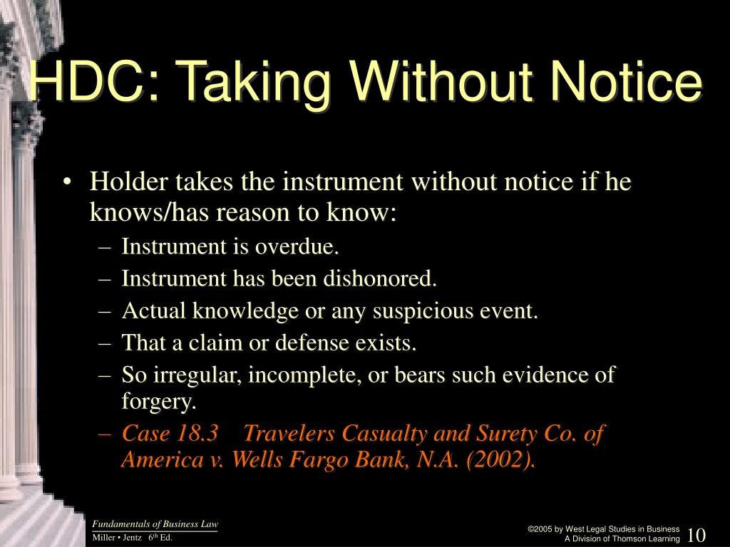 HDC: Taking Without Notice