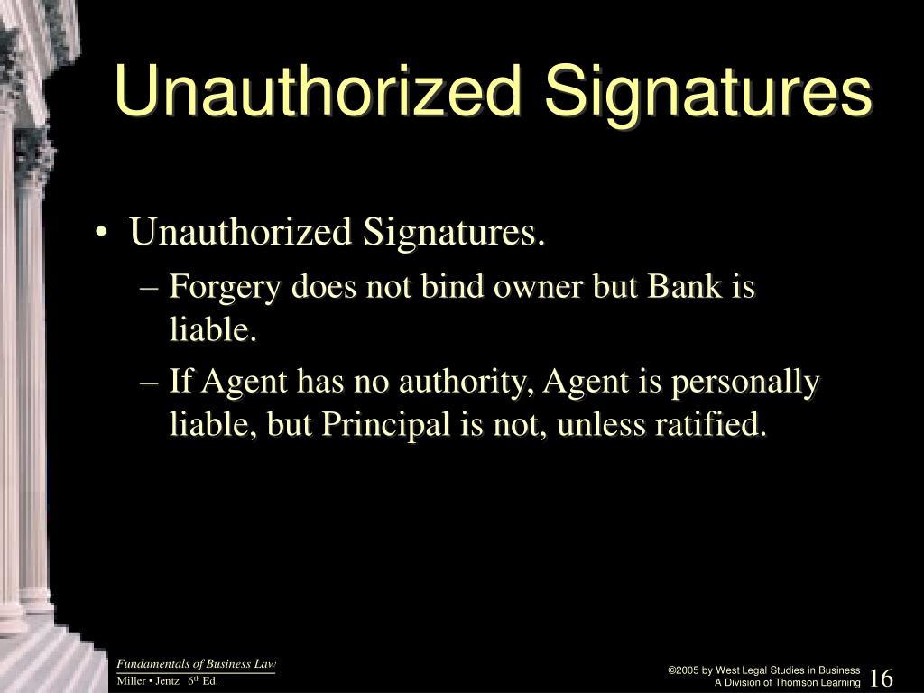 Unauthorized Signatures