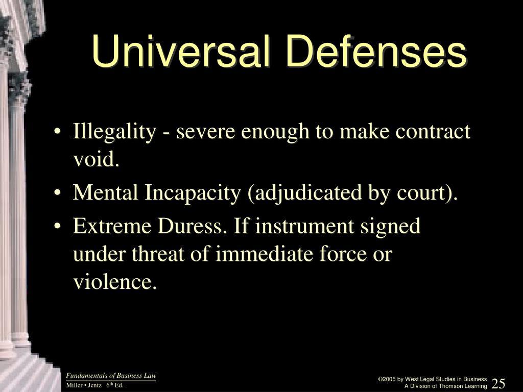 Universal Defenses