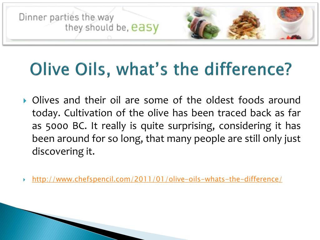 Olive Oils, what's the difference?