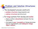 problem and solution structures