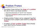 problem frames