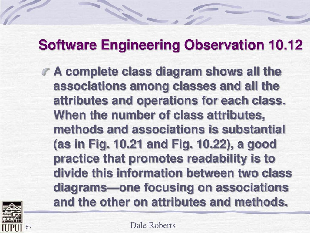 Software Engineering Observation 10.12