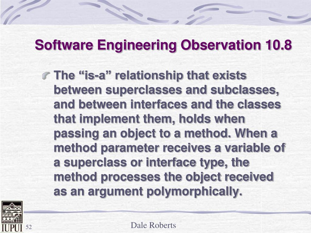 Software Engineering Observation 10.8