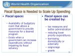 fiscal space is needed to scale up spending