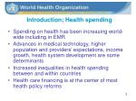 introduction health spending
